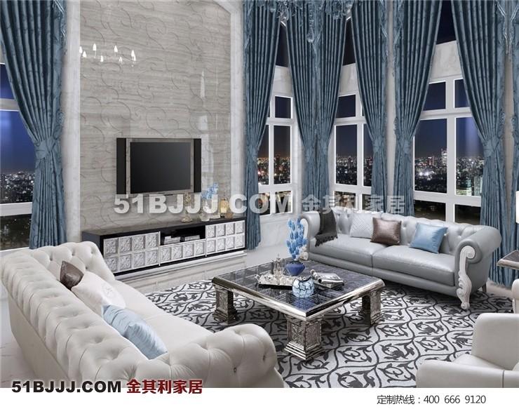后现代客厅沙发套装 时尚 前沿设计 全真皮沙发